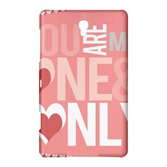 Valentines Day One Only Pink Heart Samsung Galaxy Tab S (8 4 ) Hardshell Case