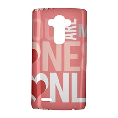 Valentines Day One Only Pink Heart Lg G4 Hardshell Case