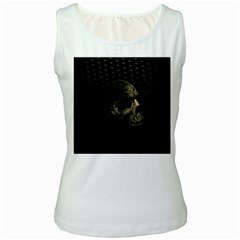 Skull Fantasy Dark Surreal Women s White Tank Top by Amaryn4rt