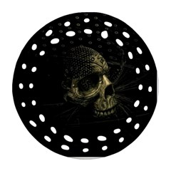 Skull Fantasy Dark Surreal Round Filigree Ornament (two Sides) by Amaryn4rt