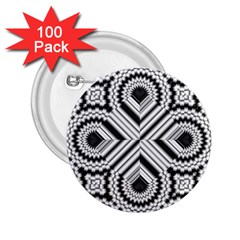 Pattern Tile Seamless Design 2 25  Buttons (100 Pack)