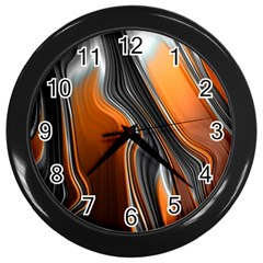 Fractal Structure Mathematic Wall Clocks (black) by Amaryn4rt