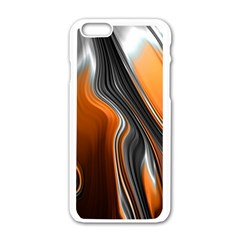Fractal Structure Mathematic Apple Iphone 6/6s White Enamel Case by Amaryn4rt
