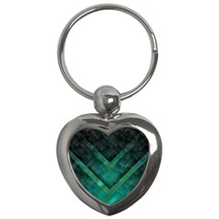 Green Background Wallpaper Motif Design Key Chains (heart)  by Amaryn4rt