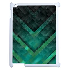 Green Background Wallpaper Motif Design Apple Ipad 2 Case (white) by Amaryn4rt