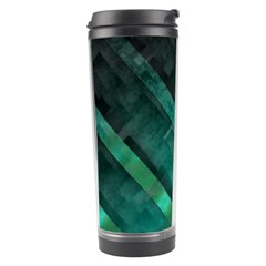 Green Background Wallpaper Motif Design Travel Tumbler by Amaryn4rt