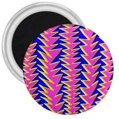 Triangle Pink Blue 3  Magnets