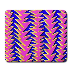Triangle Pink Blue Large Mousepads