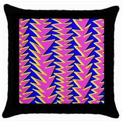 Triangle Pink Blue Throw Pillow Case (black)
