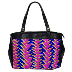 Triangle Pink Blue Office Handbags
