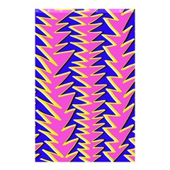 Triangle Pink Blue Shower Curtain 48  X 72  (small)  by Alisyart