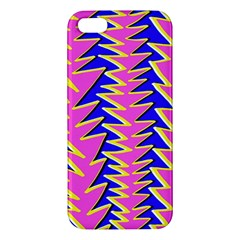 Triangle Pink Blue Apple Iphone 5 Premium Hardshell Case