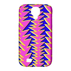 Triangle Pink Blue Samsung Galaxy S4 Classic Hardshell Case (pc+silicone) by Alisyart