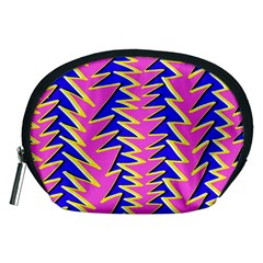 Triangle Pink Blue Accessory Pouches (medium)