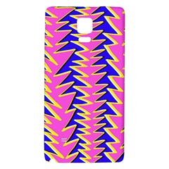 Triangle Pink Blue Galaxy Note 4 Back Case