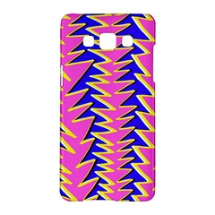 Triangle Pink Blue Samsung Galaxy A5 Hardshell Case  by Alisyart