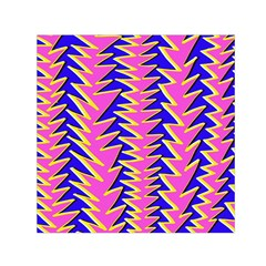 Triangle Pink Blue Small Satin Scarf (square)