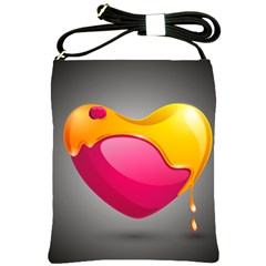 Valentine Heart Having Transparency Effect Pink Yellow Shoulder Sling Bags