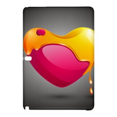Valentine Heart Having Transparency Effect Pink Yellow Samsung Galaxy Tab Pro 10 1 Hardshell Case