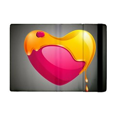 Valentine Heart Having Transparency Effect Pink Yellow Ipad Mini 2 Flip Cases