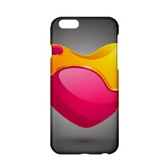 Valentine Heart Having Transparency Effect Pink Yellow Apple Iphone 6/6s Hardshell Case