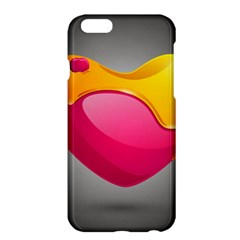 Valentine Heart Having Transparency Effect Pink Yellow Apple Iphone 6 Plus/6s Plus Hardshell Case