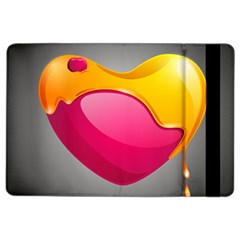 Valentine Heart Having Transparency Effect Pink Yellow Ipad Air 2 Flip