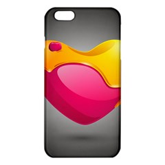 Valentine Heart Having Transparency Effect Pink Yellow Iphone 6 Plus/6s Plus Tpu Case