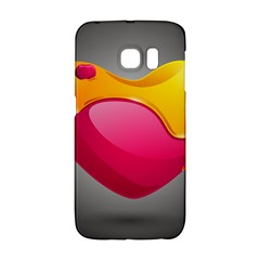 Valentine Heart Having Transparency Effect Pink Yellow Galaxy S6 Edge