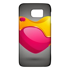 Valentine Heart Having Transparency Effect Pink Yellow Galaxy S6