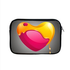 Valentine Heart Having Transparency Effect Pink Yellow Apple Macbook Pro 15  Zipper Case