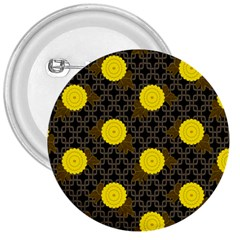 Sunflower Yellow 3  Buttons