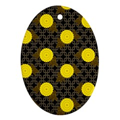 Sunflower Yellow Ornament (oval)