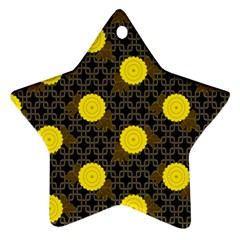 Sunflower Yellow Ornament (star)