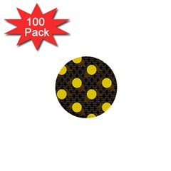 Sunflower Yellow 1  Mini Buttons (100 Pack)