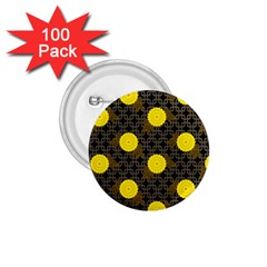 Sunflower Yellow 1 75  Buttons (100 Pack)