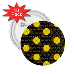 Sunflower Yellow 2 25  Buttons (10 Pack)
