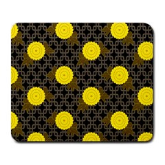 Sunflower Yellow Large Mousepads