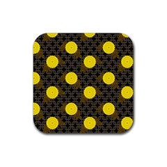 Sunflower Yellow Rubber Coaster (square)