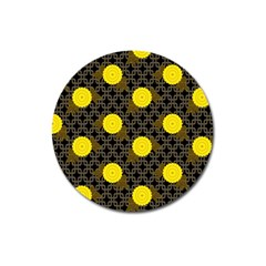 Sunflower Yellow Magnet 3  (round)