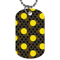 Sunflower Yellow Dog Tag (one Side)