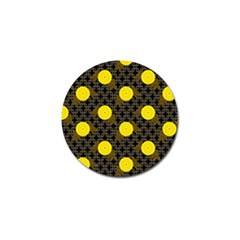 Sunflower Yellow Golf Ball Marker (4 Pack)