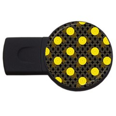 Sunflower Yellow Usb Flash Drive Round (2 Gb)