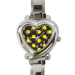 Sunflower Yellow Heart Italian Charm Watch
