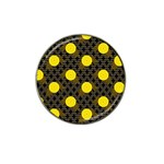 Sunflower Yellow Hat Clip Ball Marker Front