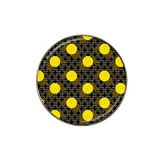 Sunflower Yellow Hat Clip Ball Marker (4 Pack)