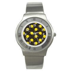 Sunflower Yellow Stainless Steel Watch