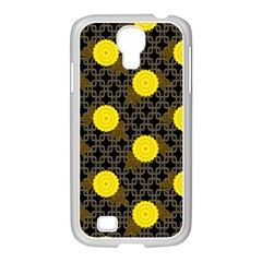 Sunflower Yellow Samsung Galaxy S4 I9500/ I9505 Case (white)