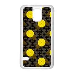 Sunflower Yellow Samsung Galaxy S5 Case (white)