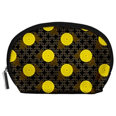 Sunflower Yellow Accessory Pouches (large)  by Alisyart